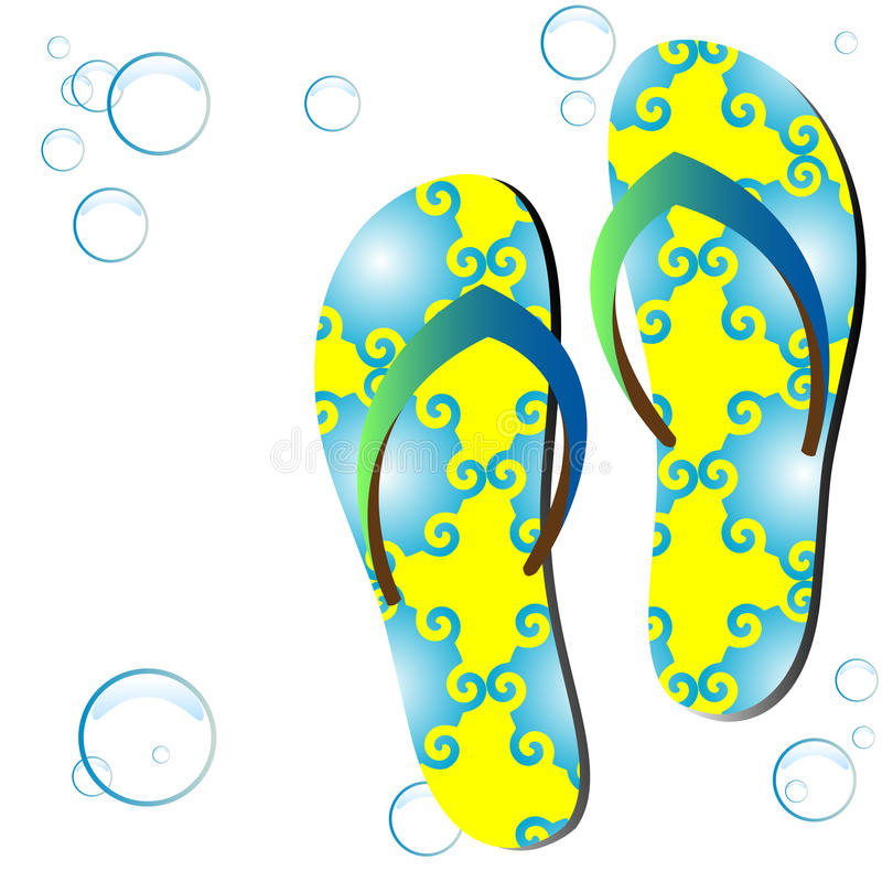 Colored flipflops. royalty free illustration
