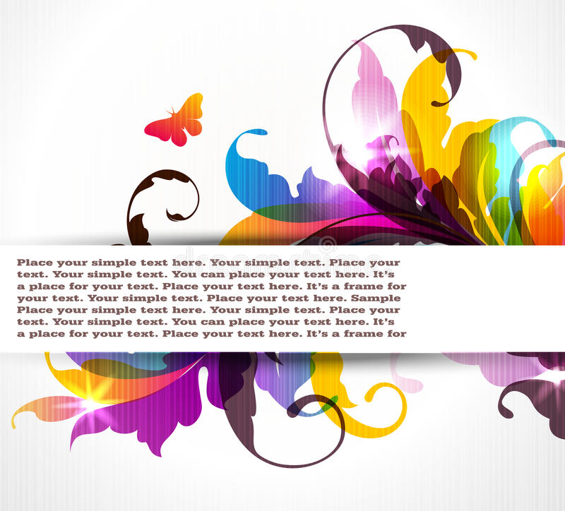 Download Colored Floral Background Royalty Free Stock Photography - Image: 20266547