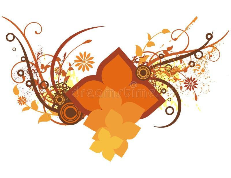 Colored floral background stock illustration