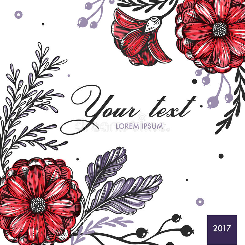 Colored Floral Spring Background vector illustration