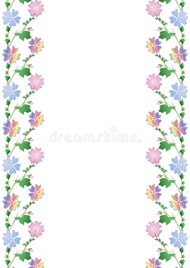 Colored flower frame stock photography