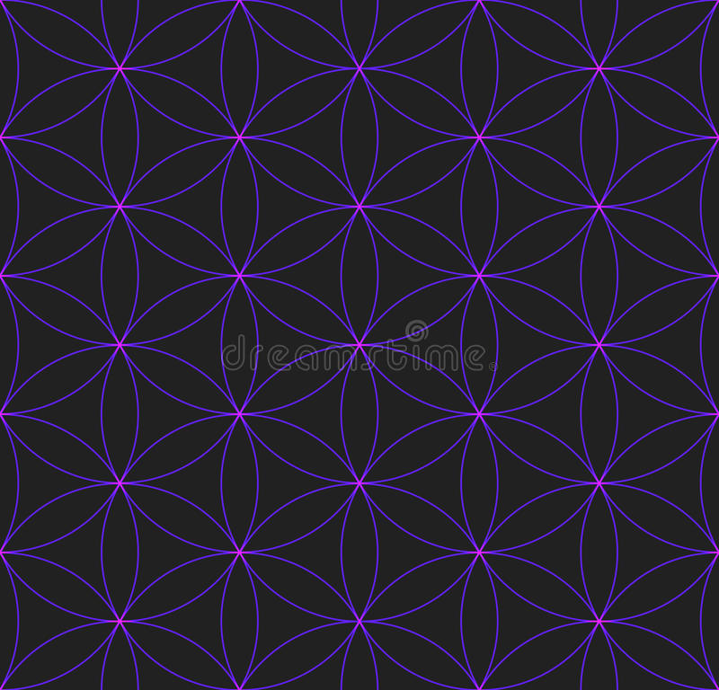 Colored Flower Of Life Sacred Geometry Pattern Stock