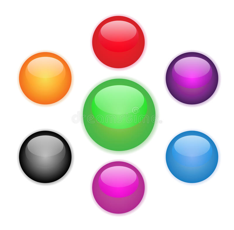Colored flower orb. Vector EPS stock illustration