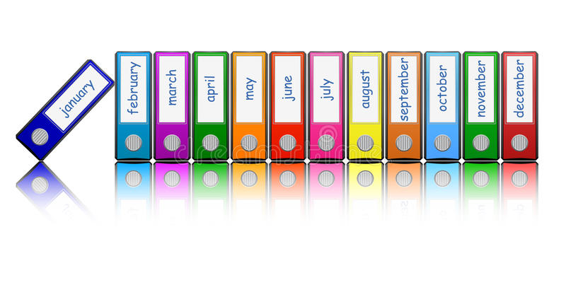 Download Colored Folders Stock Photography - Image: 25763542