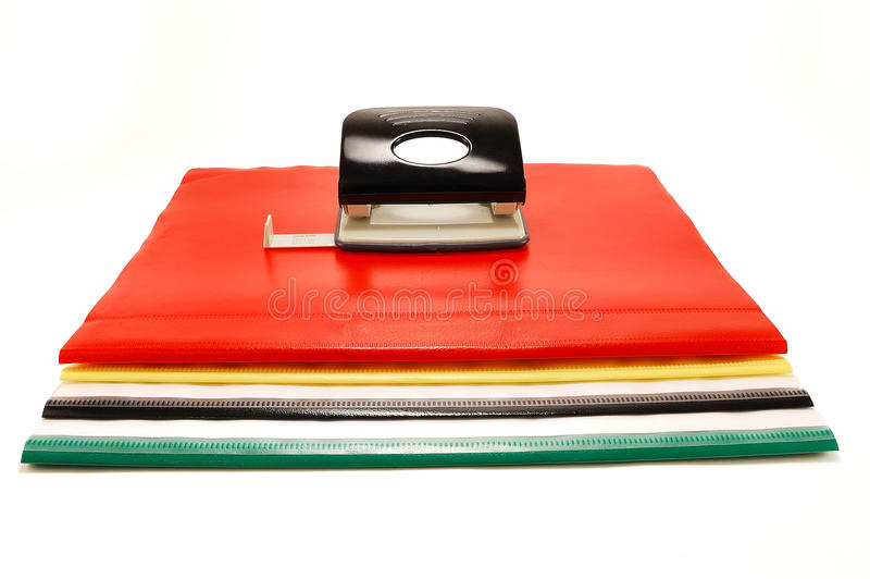 Download Colored Folders And Punch Royalty Free Stock Image - Image: 12945116