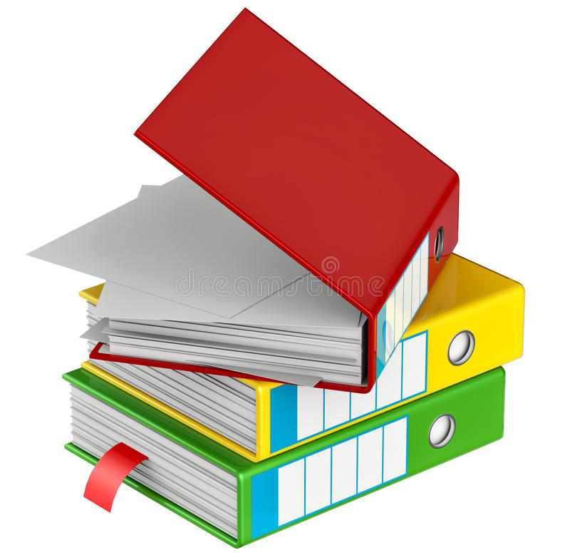 Download Colored Folders Stores Important Documents Stock Illustration - Image: 29095883