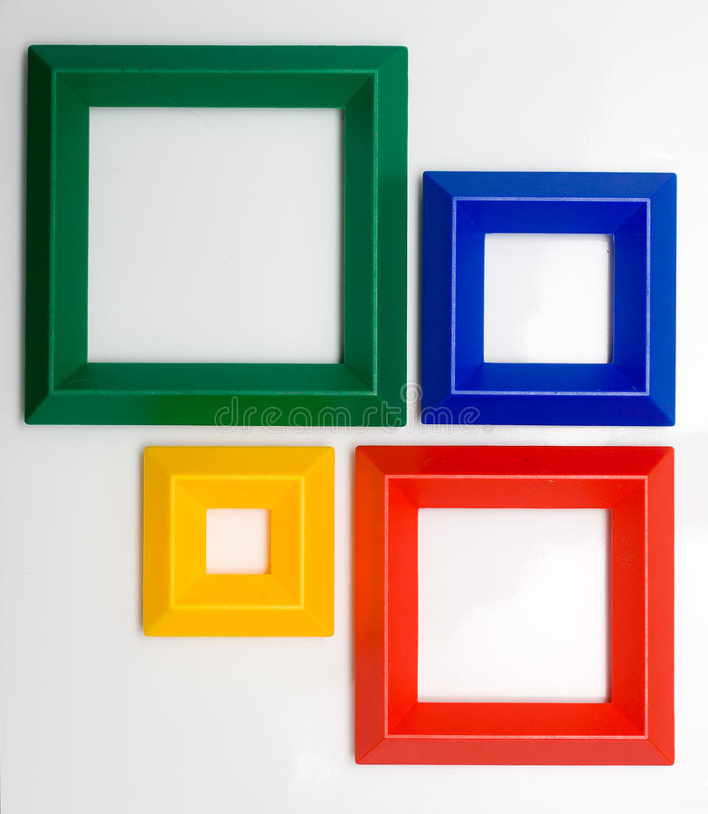 Colored frames stock image. Image of yellow, frames, four - 13321873