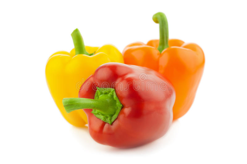 Colored Fresh Peppers Vegetable / Paprika stock photos