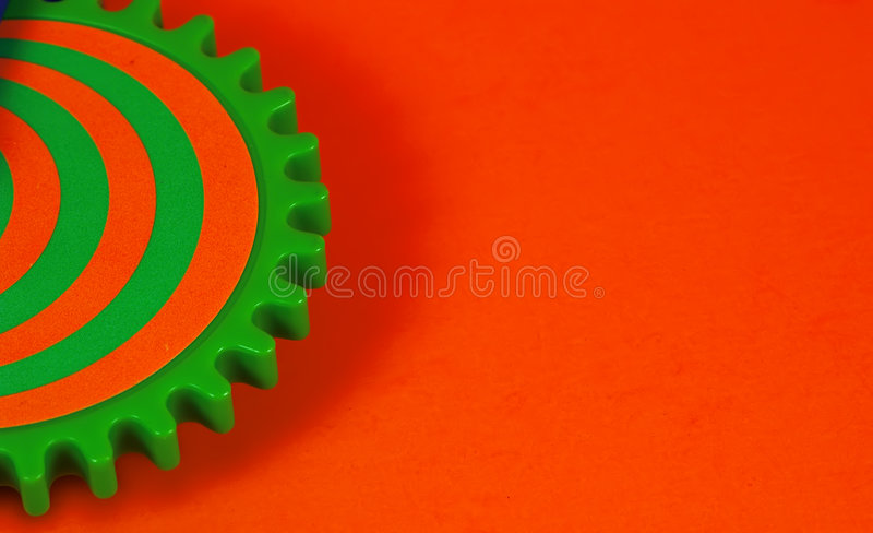 Colored Gear royalty free stock photo