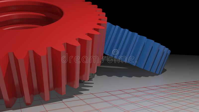 Colored gears vector illustration