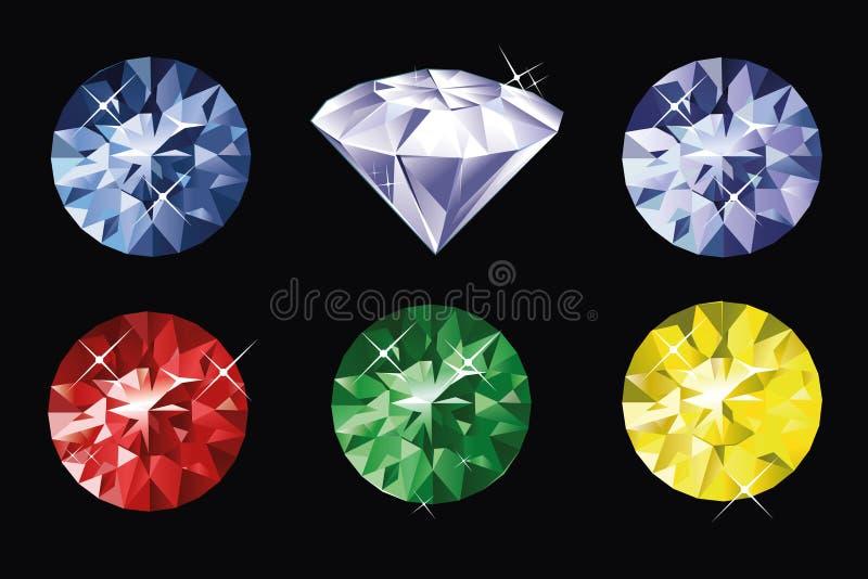 Download Colored gems stock vector. Illustration of sparkling - 33839586