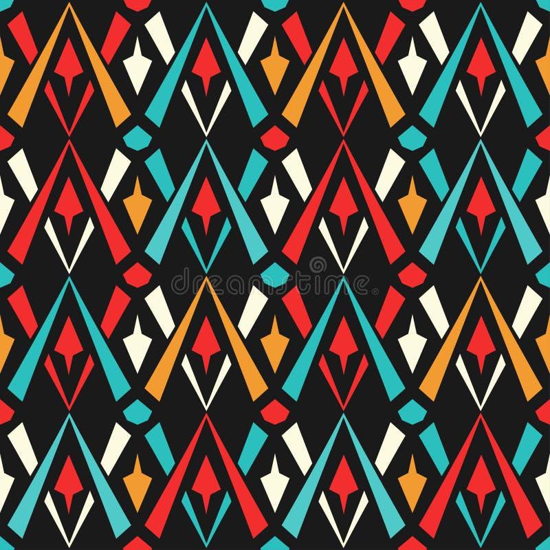 Colored geometric seamless pattern stock illustration
