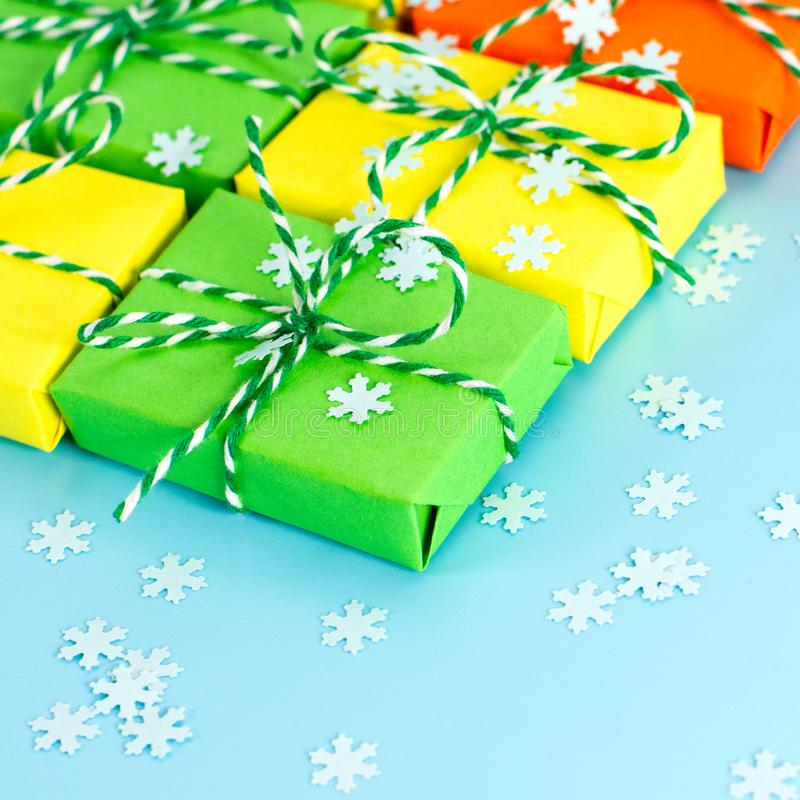 Colored gifts symbol Christmas royalty free stock photo