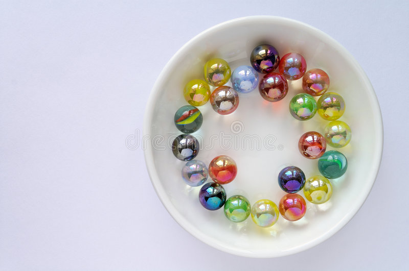 Single Colored Marbles : Colored glass marbles stock image of soundness