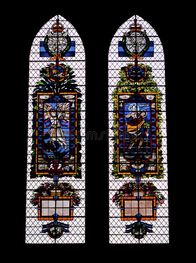 Free Colored Glass Windows In The Salisbury Cathedral Royalty Free Stock Image - 11223786