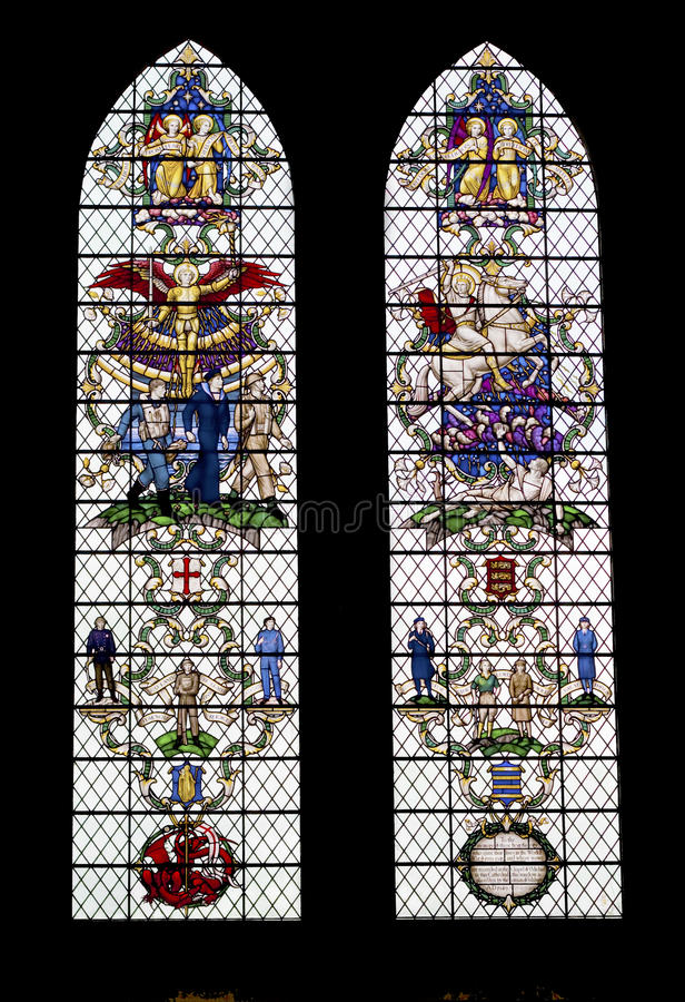 Free Colored Glass Windows In The Salisbury Cathedral Stock Photo - 11223800