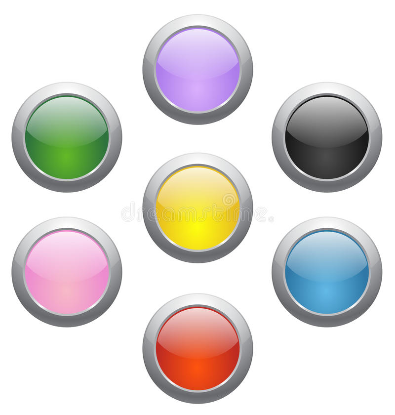 Download Colored glossy icons stock vector. Image of press, glossy - 21791172