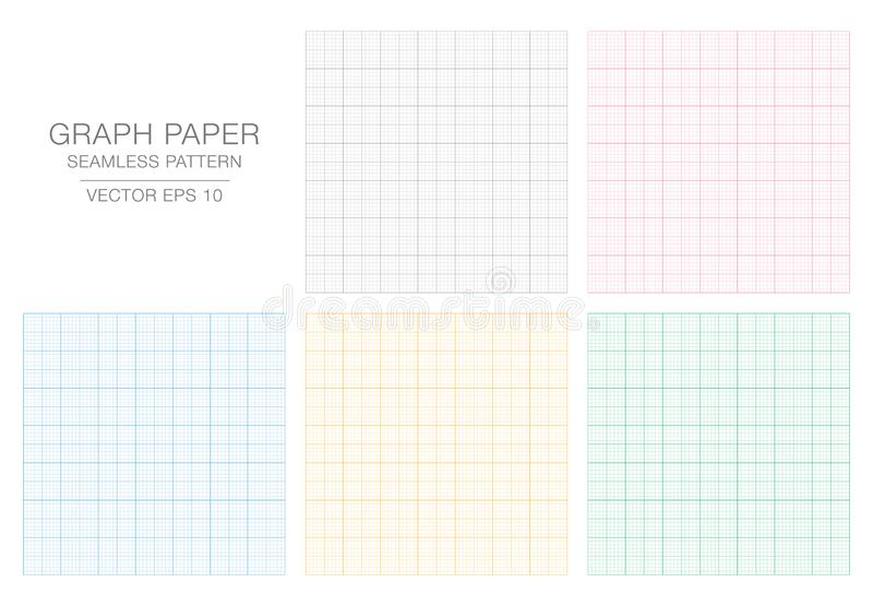 Colored Graph Paper. Seamless pattern. Vector Grid Template. Real size stock illustration