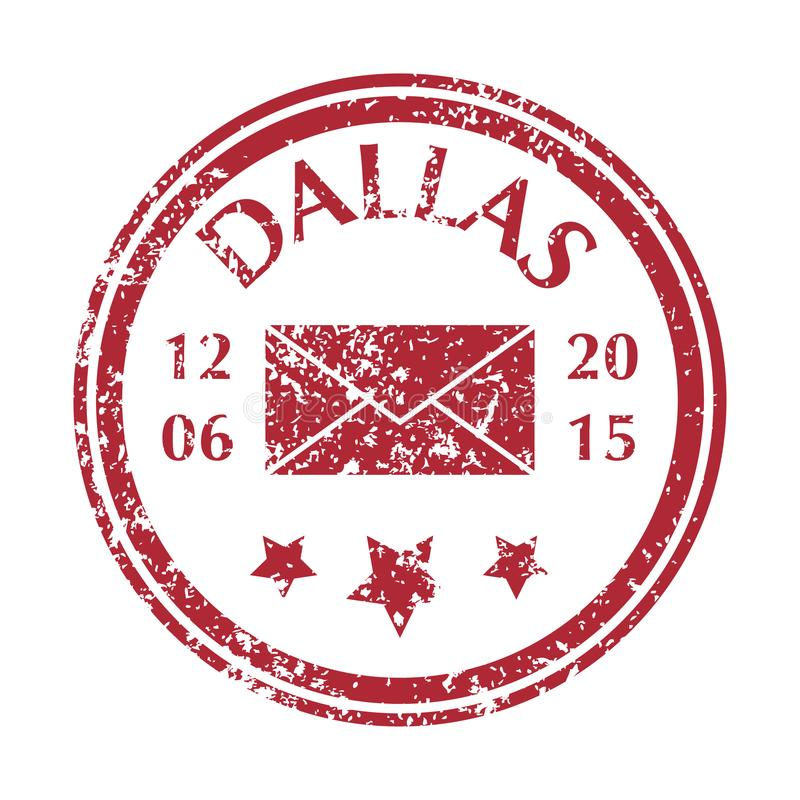 Postal Stamp from Dallas stock illustration