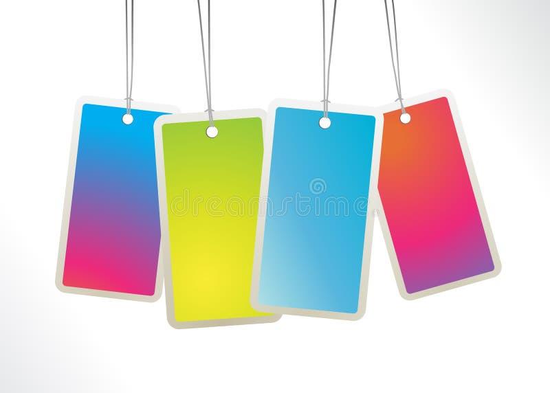 Download Colored hanging labels. stock vector. Illustration of blue - 14096974