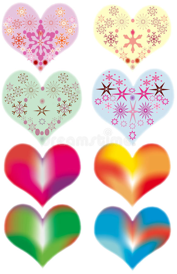 Download Colored Hearts stock vector. Image of primitive, holiday - 17674478