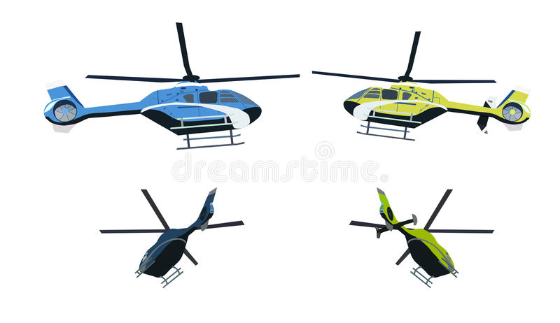 Colored helicopter stock image