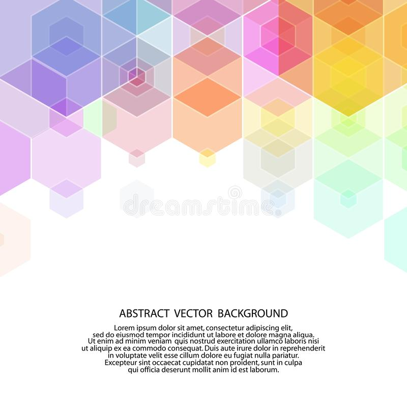 colored hexagon background. vector illustration. abstract image. polygonal style. eps 10 royalty free illustration