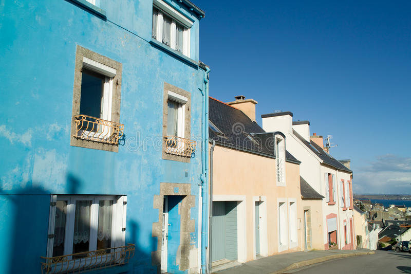 Download Colored house in brittany stock photo. Image of street - 23528244