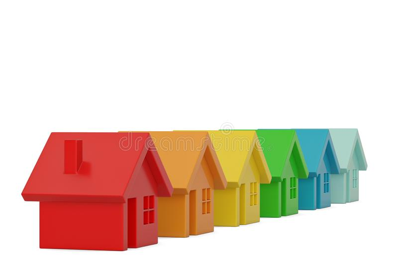 Colored house  isolated on white background, 3D illustration. Colored house isolated on white background, 3D illustration stock illustration