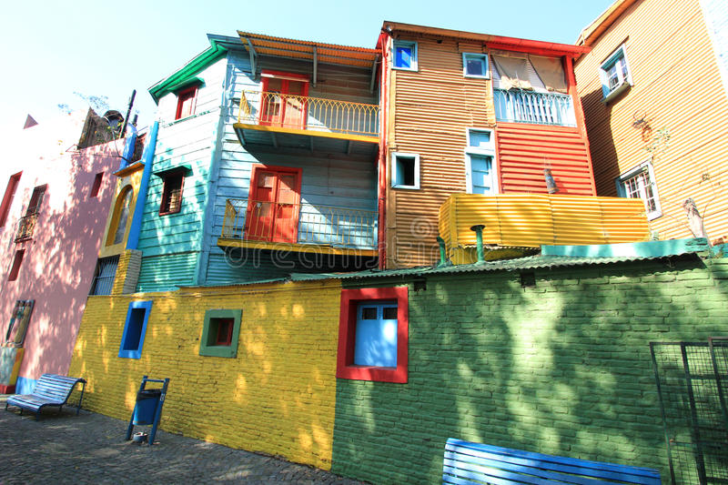 Colored houses of La Boca royalty free stock images