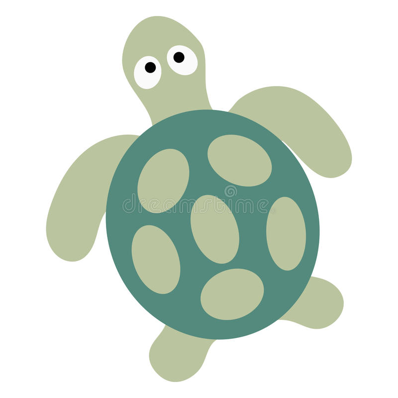 Colored icon cute baby turtle on a white background. stock illustration