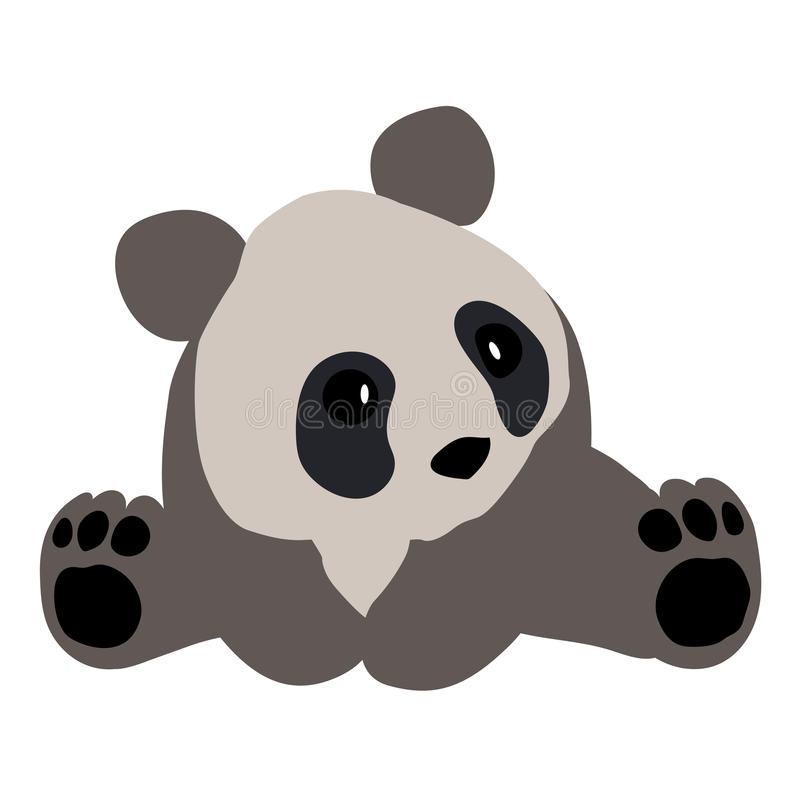 Colored icon cute Panda on a white background. royalty free illustration