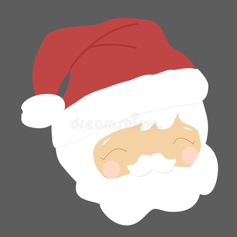 Colored icon Santa`s head. royalty free stock image