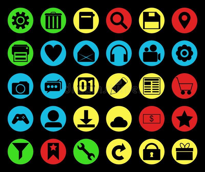 Colored icon set stock photos