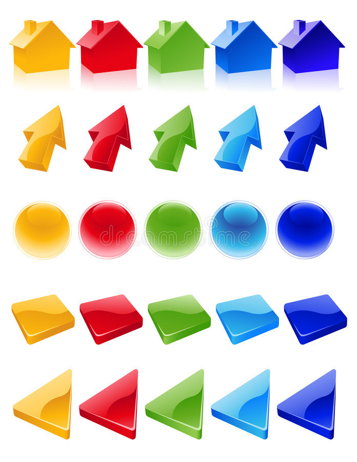Colored_icons vector illustratie