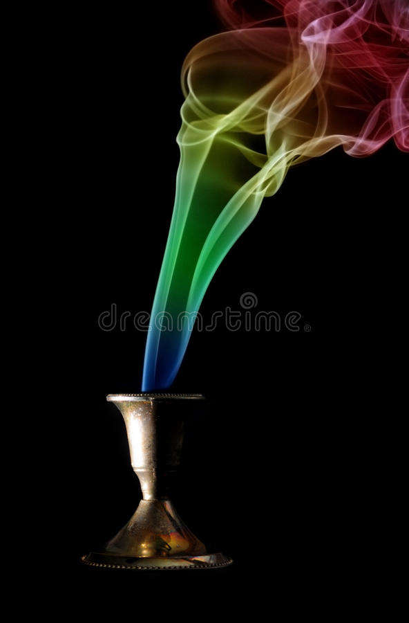 Colored Incense Smoke Royalty Free Stock Photography