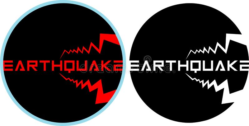 Colored and isolated earthquake logo on the theme of ecology, minimalism vector illustration