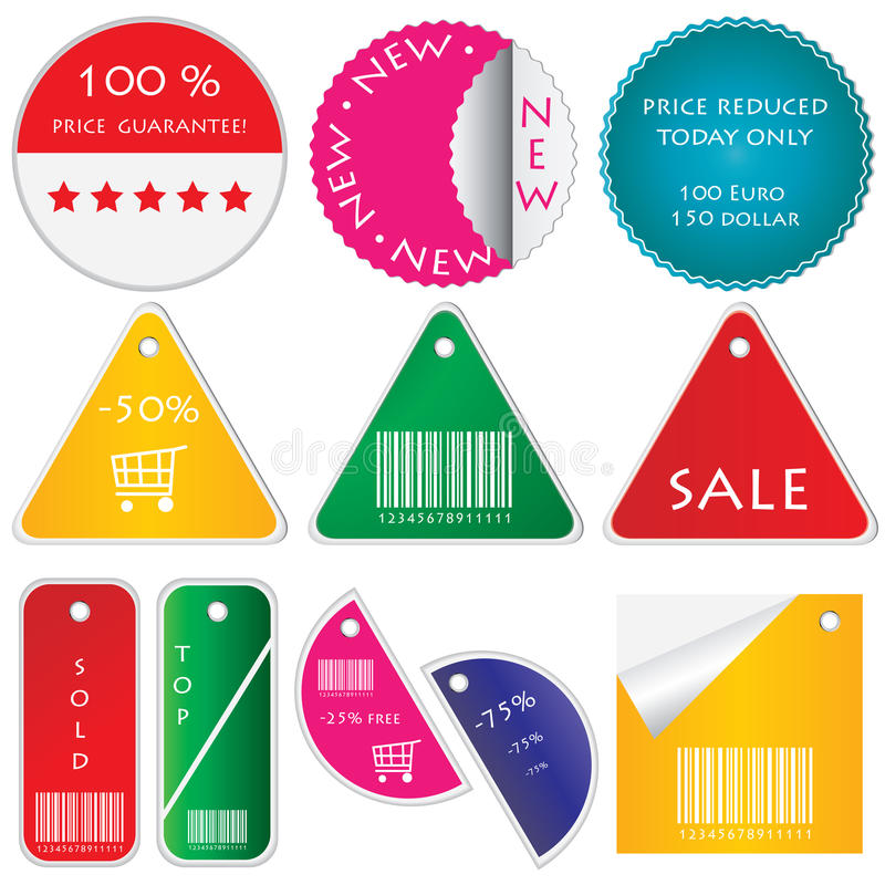 Colored labels. Special colored labels for your market