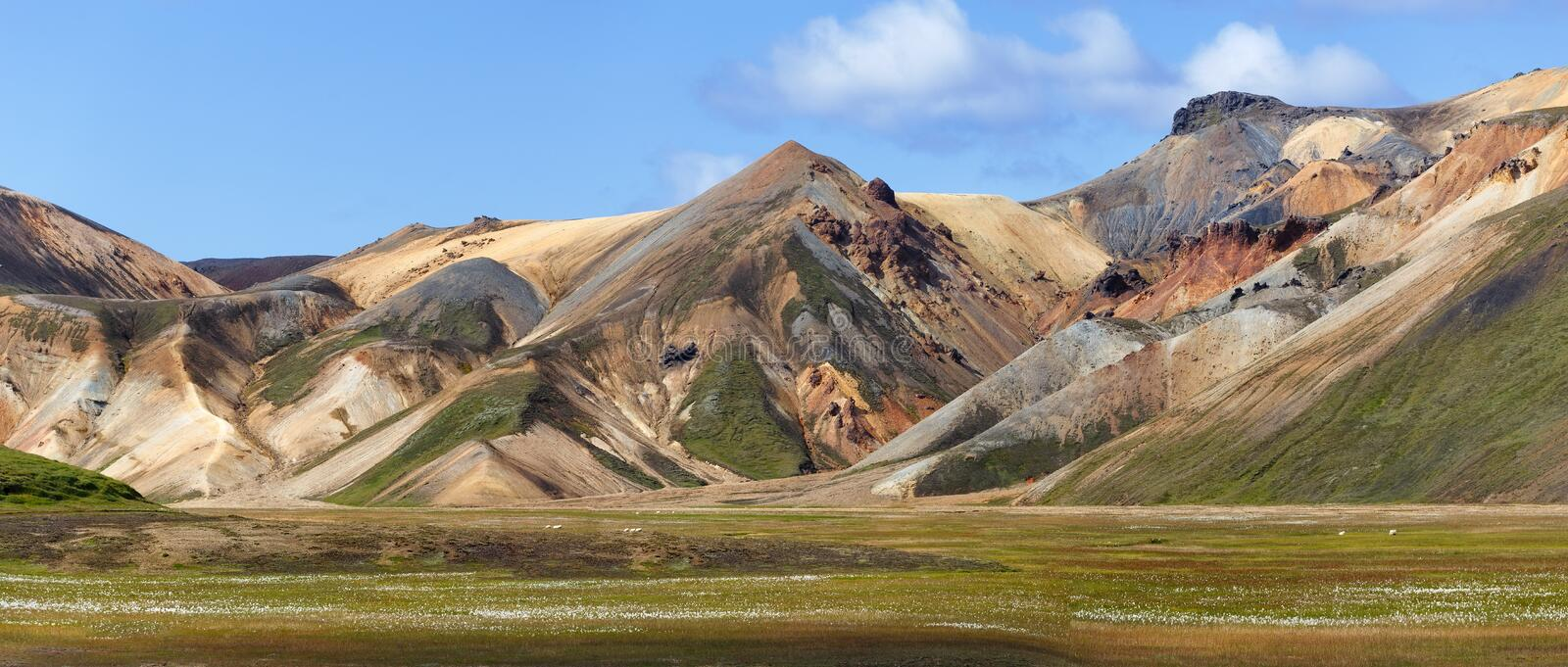Landmannalaugar View, Iceland royalty free stock images
