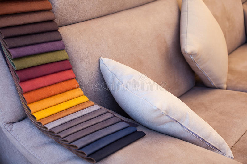 Colored leather on ofa royalty free stock photo