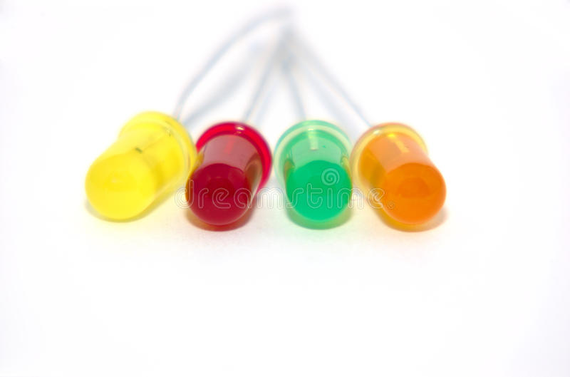 Colored LED's 2 royalty free stock photography