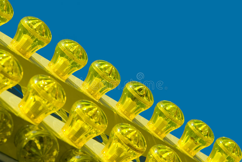 Colored light bulbs royalty free stock photography