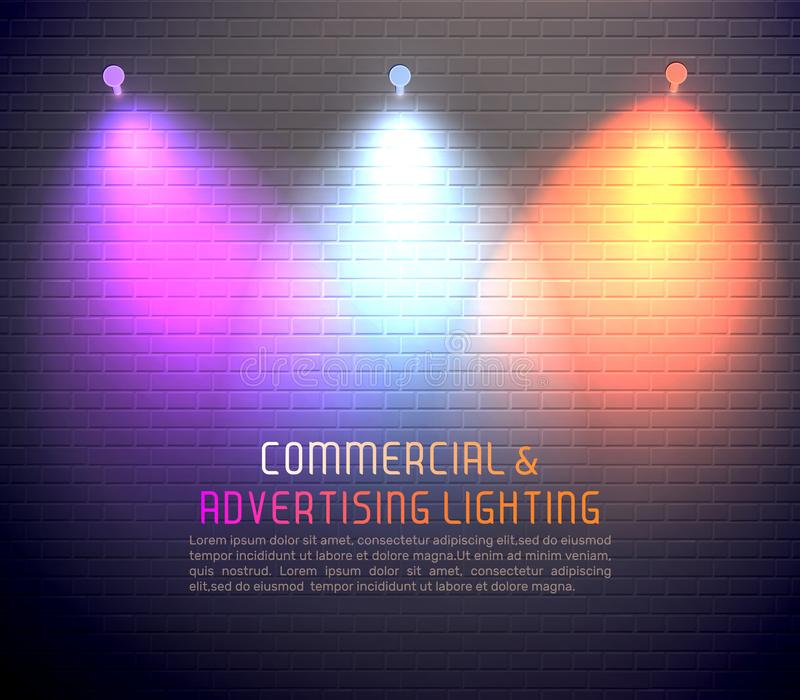 Colored Light Effects Poster stock illustration
