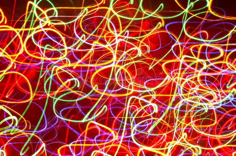 Colored light motion blurs #1 royalty free stock photo