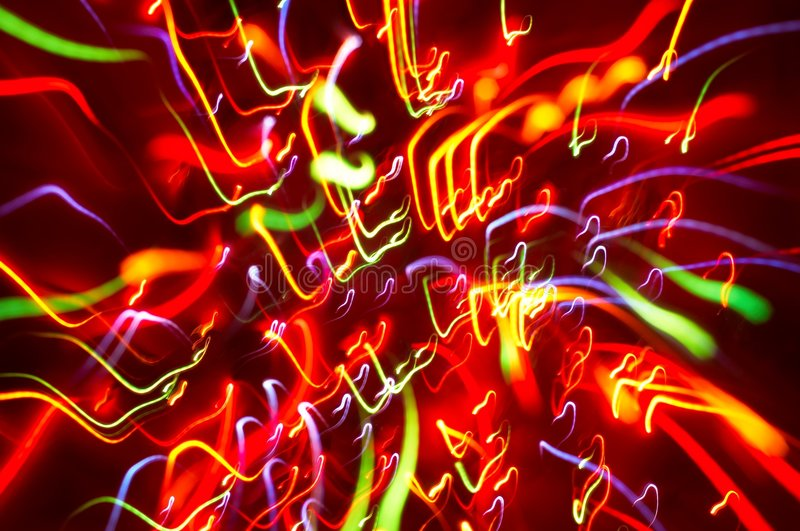Download Colored Light Motion Blurs #4 Stock Photo - Image: 1641982