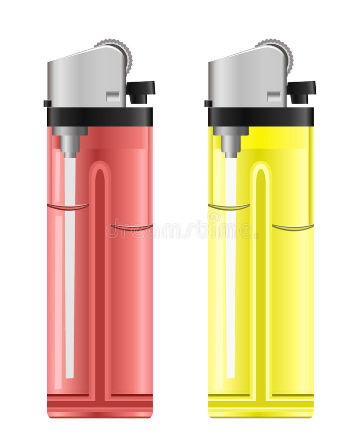Colored lighters.