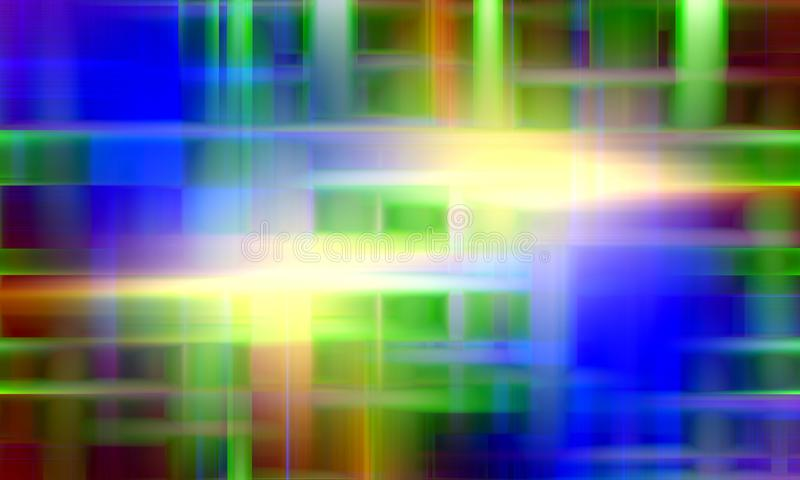 Colored lights, abstract green red blue abstract background stock illustration