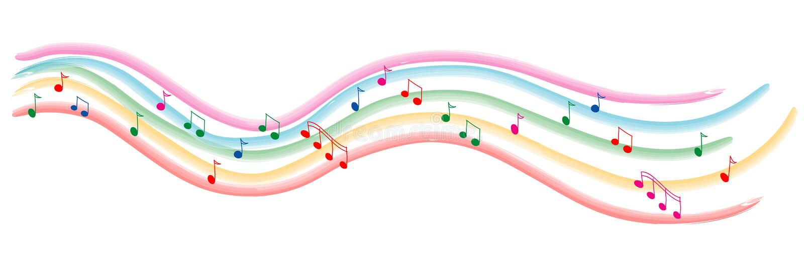 Colored line of music royalty free illustration