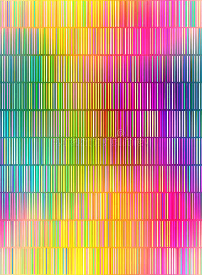 Colored lines pattern. Seamless texture of many small vertical vibrant lines stock illustration