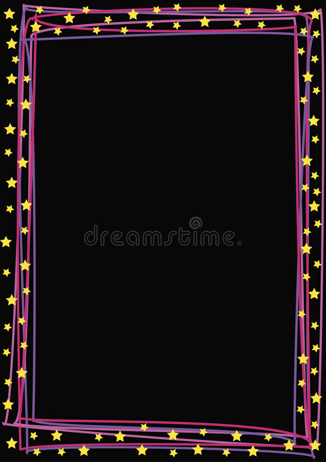 Colored lines and stars stock illustration